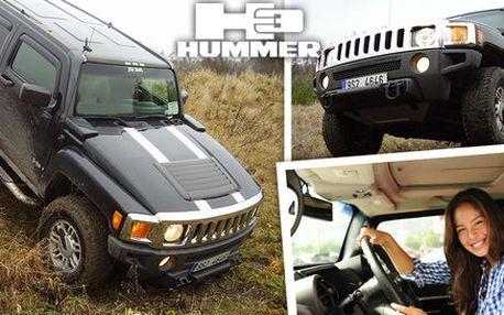 Jízda s vozem Hummer H3 terénem i po silnici