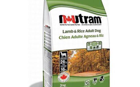 Vysoce kvalitní a chutné granule NUTRAM Adult Lamb + Rice 15kg