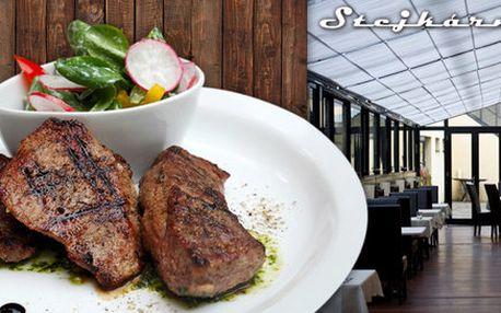 Steaková hostina v dejvické Stejkárně pro dva