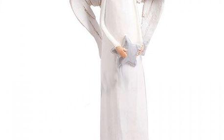 Vánoční ozdoba Anděl s hvězdou