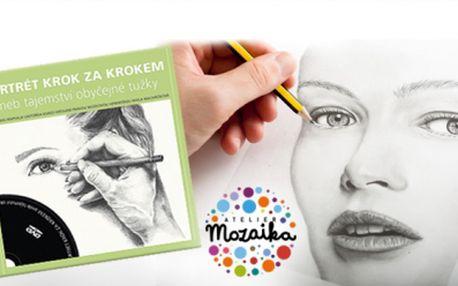 Kniha + DVD Portrét krok za krokem aneb tajemství obyčejné tužky! Naučte se kreslit v pohodlí domova!