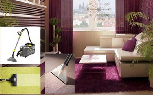 Hloubkové čištění koberců nebo sedacích souprav + DÁREK zdarma