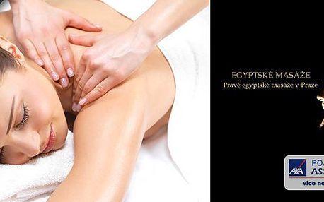 Egyptská aroma masáž v délce 60 nebo 90 minut- přijďte si k nám odpočinout a zrelaxovat své tělo. Těšíme se na Vás