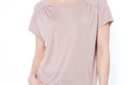Volné dámské tričko s lodičkovým výstřihem