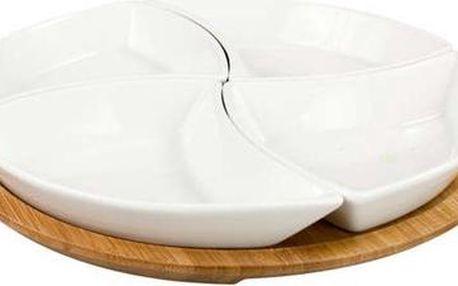 BANQUET Collezione Bianca keramická miska na tácku 5 dílů