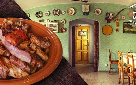 Srbský mix grill pro 4 jedlíky v restauraci Jelica