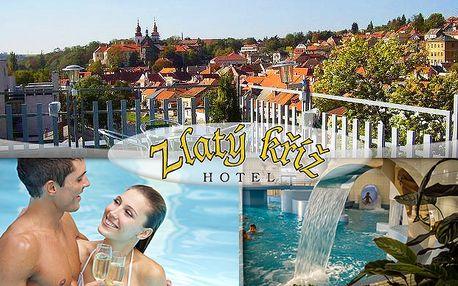 Relax pro dva v hotelu Zlatý kříž v Třebíči