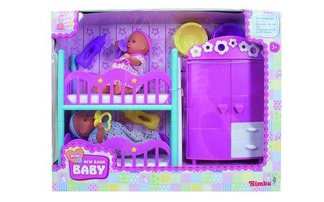 Dětský pokojíček New Born Mini s dvěma panenky