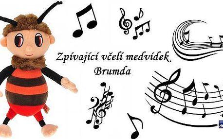 Brumda - oblíbená česká pohádková postavička - zpívající včelí medvídek Brumda. Vaše děti zazáří radostí, když uvidí tuto krásnou hračku pod vánočním stromečkem! Plyšová hračka Brumda z večerníčku Včelí medvídci!