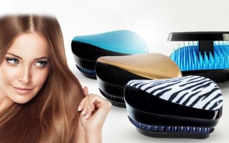 Designový vlasový kartáč! Praktická cestovní velikost! Vybaven speciálně rozvrhnutými štětinami dvou délek!