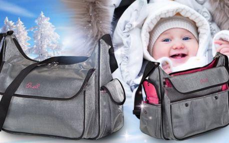 Značková kojenecká taška přes rameno NELL DAMEK! Nezbytný pomocník pro všechny maminky!