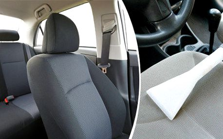 Hloubkové vyčištění sedadel vozidla