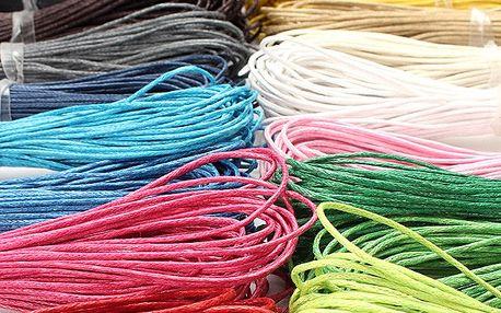 Návlekové šňůrky na krk - povoskovaná bavlna, 21 barev