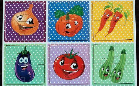 Dřevěné puzzle - Zelenina