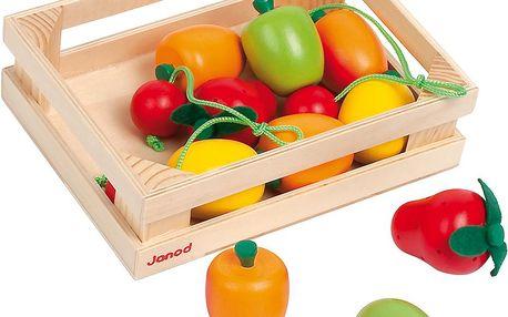 Cagette 12 fruits - Dřevěné ovoce