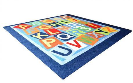 Dětský koberec ABC Abeceda 200x200 cm