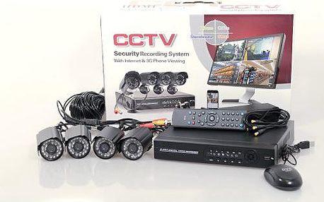 Bezpečnostní kamerový systém CCTV - 4 kamery
