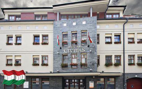 Moderní Boutique Hotel v Maďarsku se vstupem do wellness a degustací vína