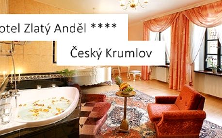 3denní luxusní romantický pobyt pro DVA v centru Českého Krumlova v hotelu Zlatý Anděl **** a to vše včetně polopenze a dalších překvapení za 3.995 Kč