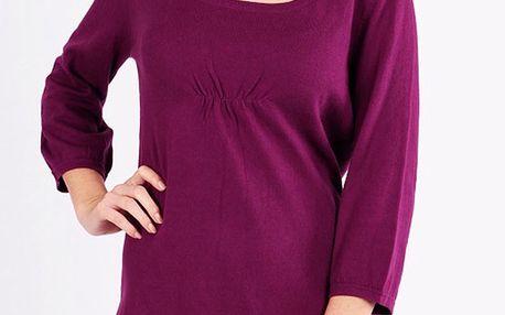 Dámský fialový svetřík s tříčtvrtečními rukávy Emma Pernelle