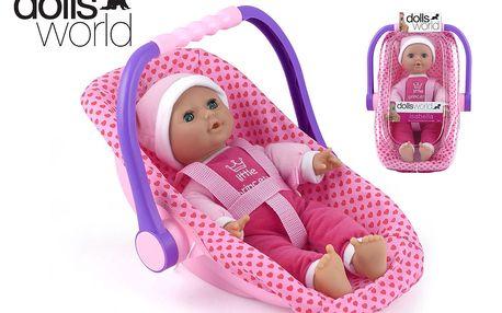 Panenka Isabella v dětské sedačce s rukojetí