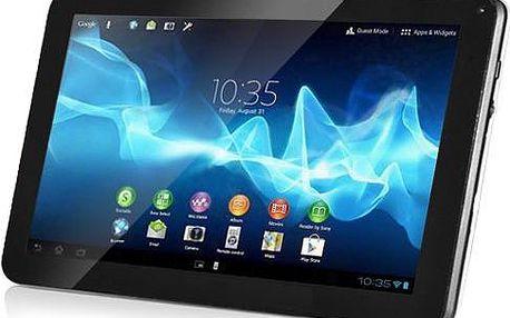 9 palcový duální tablet s WiFi a poštovným zdarma. Rychlý dvoujádrový procesor, Android 4.2, HD dotyková obrazovka 960 x 640 pixelů, duální fotoaparát, HDD 8 GB a zdarma tisíce aplikací z Android Google.