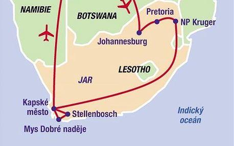 To nejlepší z Jihoafrické republiky, Afrika, Jihoafrická republika, letecky, strava dle programu