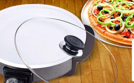 Bio keramická elektrická pánev s poklicí Renberg nejen na pizzu. Připravte si oblíbenou dobrotu!