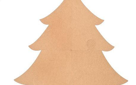 Veliký dřevěný vánoční stromek