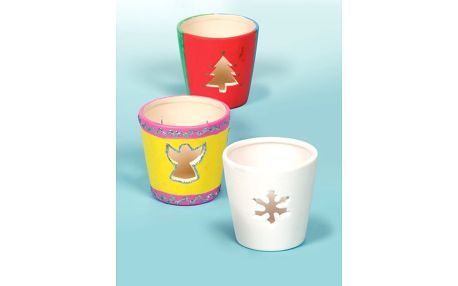 Vánoční keramický svícen (4 ks)