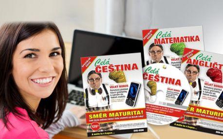 4 interaktivní DVD, která Vás připraví k maturitě z češtiny, angličtiny, němčiny a matematiky!