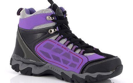 Dámské černo-fialové trekové boty Kimberfeel