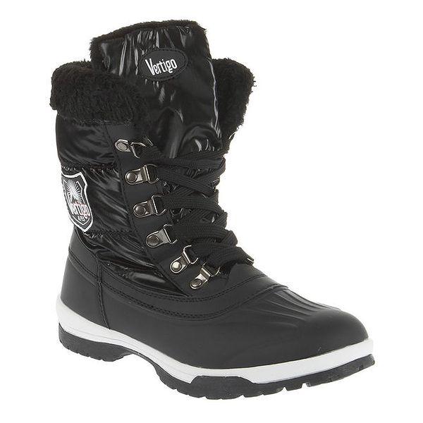 Dámské černé boty se šněrováním E2ko
