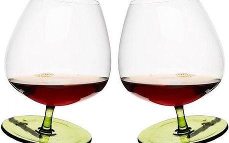 Houpací sklenice na brandy, 2 ks, zelené