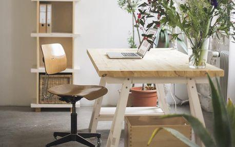 Stůl Stemke na bílých podstavcích, 160 cm - doprava zdarma!