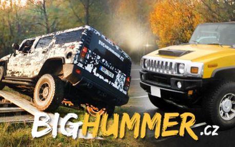Jízda v legendárním Hummeru H2 s instruktorem V TERÉNU I NA SILNICI! 30 minut adrenalinu co za to stojí!
