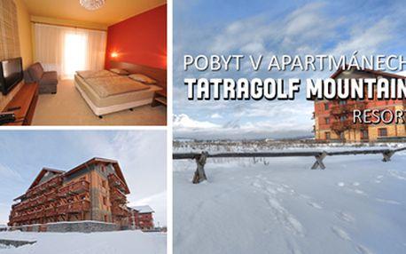 1899 Kč za 3-denní pobyt pro DVA v apartmánech Tatragolf Mountain Resort**** v Tatrách ve Veľké Lomnici. Špičkový resort s vyžitím pro celou rodinu. Aquapark Poprad a termální lázně v blízkosti!!