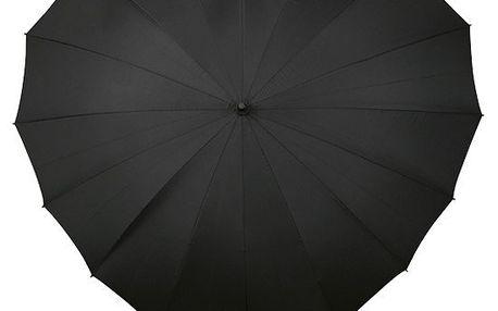 Dámský holový deštník srdce Heart černá