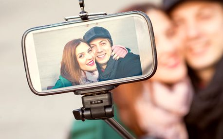Monopod na profi selfie a dálkové ovládání s poštovným zdarma