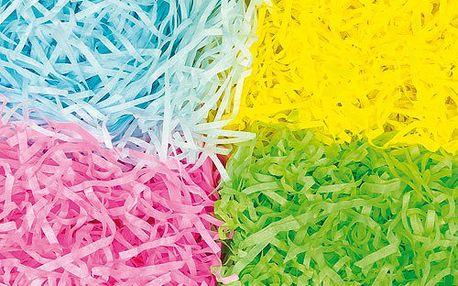 Velikonoční tráva (72g) 4 různé barvy - růžová, žlutá, modrá a zelená