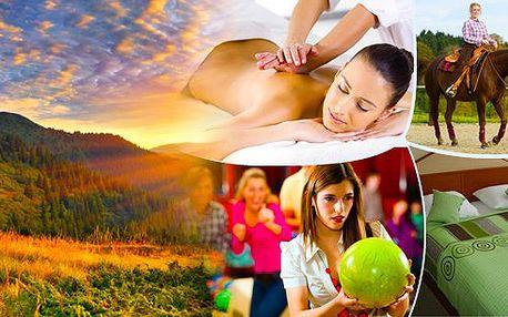 Východní Morava - relaxační nebo wellness pobyt pro 2 osoby na 3 dny s polopenzí, romantickou večeří při svíčkách, masáží, bowlingem nebo jízdou na koni ve Valašských Klobukách. Vychutnejte si krásy přírody, které nabízí CHKO Bílé Karpaty.