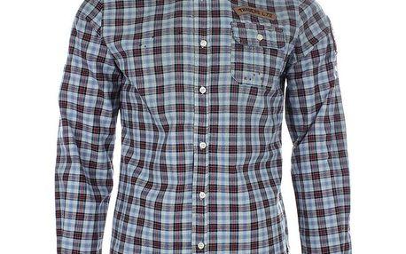 Pánská modrá košile s červenými proužky Zu Elements