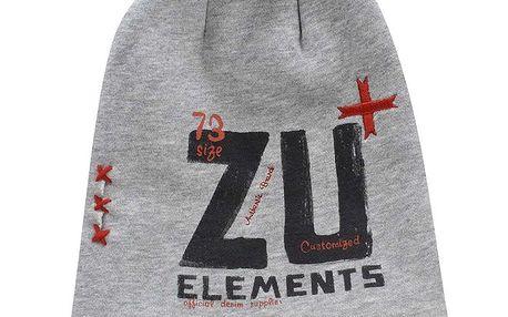 Šedá čepice s potiskem Zu Elements