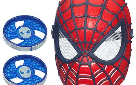 HASBRO - SPIDERMAN elektronická maska střílí disky