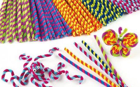 Pruhované plyšové drátky – výhodné balení