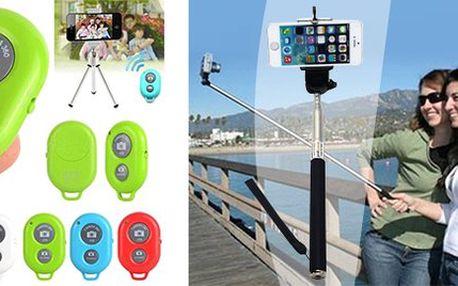 Teleskopický držák a bluetooth ovladač pro selfie