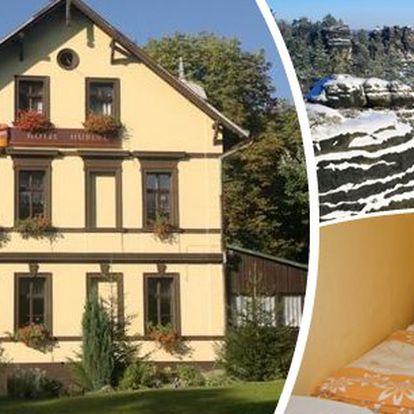České Švýcarsko - Pobyt pro 2 osoby na 3 dny v hotelu Hubert. Ubytování, snídaně, odpolední káva nebo čaj, sladký dezert.
