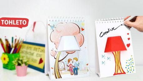 Originální kalendář se 7 obrázky sloužící jako lampa! Jedinečná a praktická dekorace na Váš noční stolek!