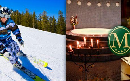 5denní lyžařský pobyt v Mariánských Lázních s wellness pro 2 osoby. Dítě zdarma!