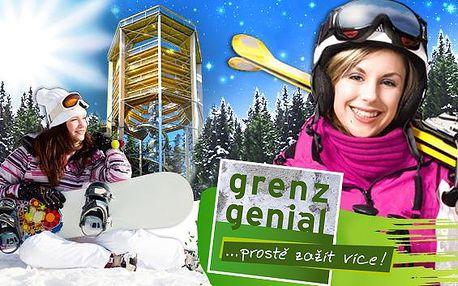Lipno & Šumava s polopenzí a vstupenky zdarma v akcích 1+1. Vířivka, sauna a zážitková karta Grenzgenial pro turisty i lyžaře. Výborná kuchyně i víno, relaxace od zimy až do června 2015!